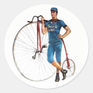 Campeonato de la bicicleta del vintage pegatina redonda