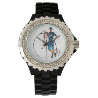 Campeonato de la bicicleta del vintage relojes de pulsera