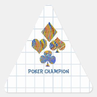 Campeonato de la noche del PÓKER Pegatina Triangular