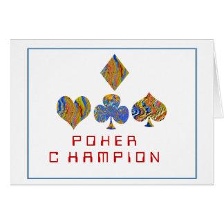 Campeonato de la noche del PÓKER Tarjeta De Felicitación