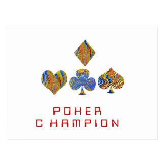 Campeonato de la noche del PÓKER Tarjetas Postales