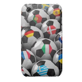 Campeonato del fútbol de 2012 europeos iPhone 3 fundas