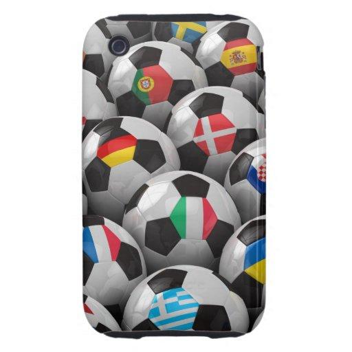 Campeonato del fútbol de 2012 europeos tough iPhone 3 protectores