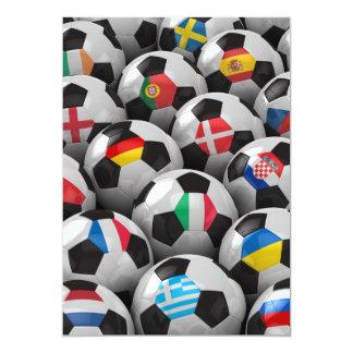 """Campeonato del fútbol de 2012 europeos invitación 5"""" x 7"""""""