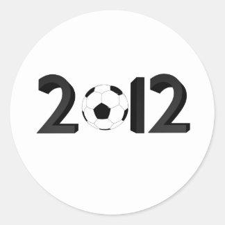 Campeonato europeo 2012 pegatina redonda