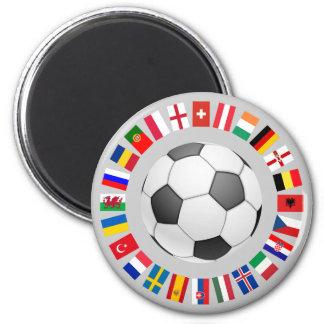 Campeonato europeo 2016 del fútbol del fútbol imán redondo 5 cm