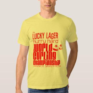 Campeonato que se encrespa de la cerveza dorada remeras