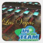 Campeonatos del equipo nacional de APA Pegatinas Cuadradases Personalizadas