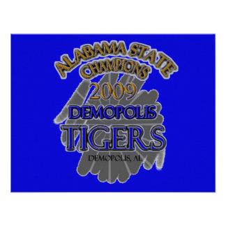 ¡Campeones 2009 de estado de Alabama de los tigres Anuncios