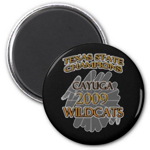 ¡Campeones 2009 de estado de Tejas de los gatos mo Iman Para Frigorífico