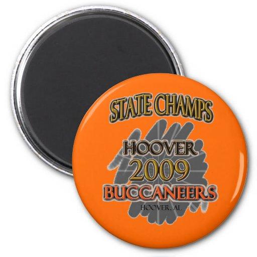 ¡Campeones 2009 del estado de Hoover Buccaneers Al Imán Redondo 5 Cm
