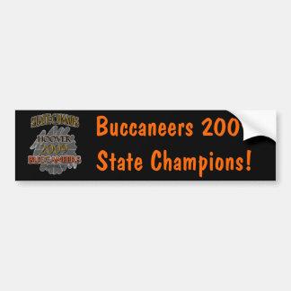 ¡Campeones 2009 del estado de Hoover Buccaneers Al Pegatina Para Auto