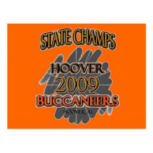 ¡Campeones 2009 del estado de Hoover Buccaneers Postales