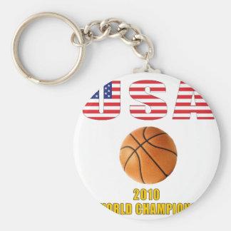 Campeones 2010 del baloncesto de los E.E.U.U. Llavero Redondo Tipo Pin