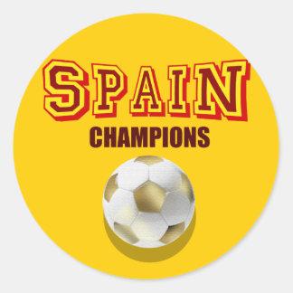 Campeones 2010 del mundo de España Pegatina Redonda