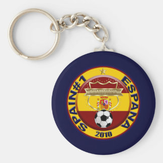 Campeones 2010 del mundo del fútbol de España Llavero Redondo Tipo Pin