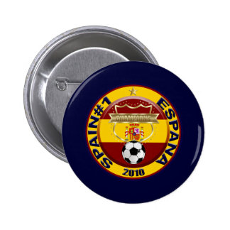 Campeones 2010 del mundo del fútbol de España Pin Redondo 5 Cm