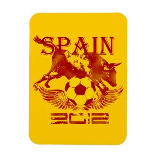 Campeones 2012 de los fanáticos del fútbol del fút rectangle magnet