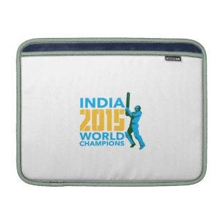 Campeones 2015 del mundo del grillo de la India Funda Para Macbook Air