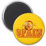 Campeones de España 1964 y 2008 de los regalos de  Imán Redondo 5 Cm