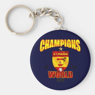 Campeones de España del mundo 2010 Llavero Redondo Tipo Pin