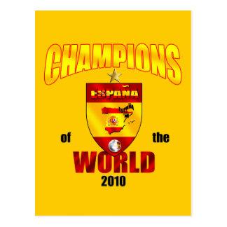 Campeones de España del mundo 2010 Tarjetas Postales