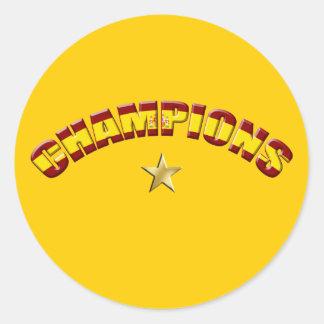 Campeones de España Pegatina Redonda