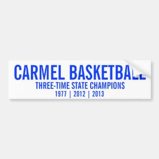 Campeones de estado del baloncesto de Carmel Pegatina Para Auto