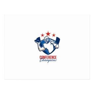 Campeones de la conferencia del estratega del postales