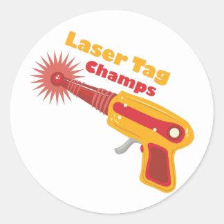 Campeones de la etiqueta del laser