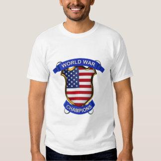 Campeones de la guerra mundial de los E.E.U.U. Camisas