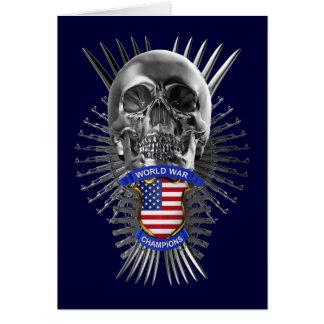 Campeones de la guerra mundial de los E.E.U.U. Tarjeta De Felicitación