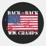 Campeones de la guerra mundial pegatina redonda