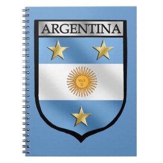 Campeones de la insignia del escudo del emblema de libreta espiral