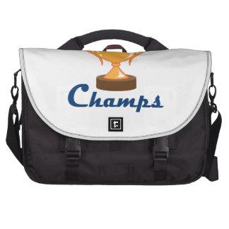 Campeones de la taza del trofeo bolsas de portátil
