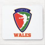 Campeones de País de Gales del jugador del rugbi Alfombrilla De Ratones