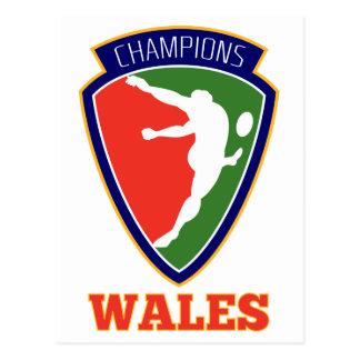 Campeones de País de Gales del jugador del rugbi Tarjeta Postal