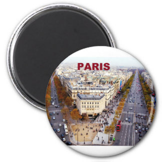 Campeones de París Francia Elysees (St.K) Imán Redondo 5 Cm