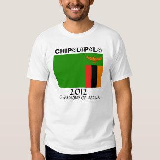 Campeones del africano de Chipolopolo de Zambia Playera