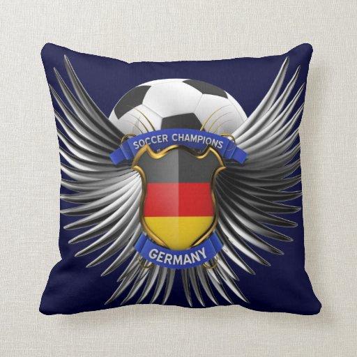 Campeones del fútbol de Alemania Almohada