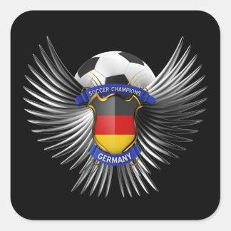 Campeones del fútbol de Alemania Colcomanias Cuadradas Personalizadas