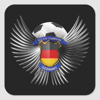 Campeones del fútbol de Alemania Pegatina Cuadrada