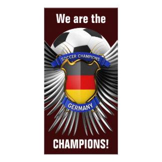 Campeones del fútbol de Alemania Tarjetas Fotograficas Personalizadas