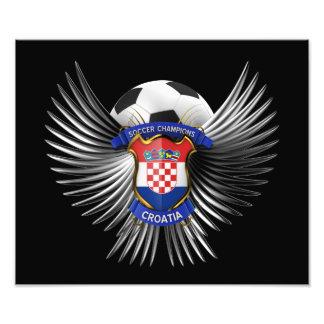 Campeones del fútbol de Croacia Impresión Fotográfica