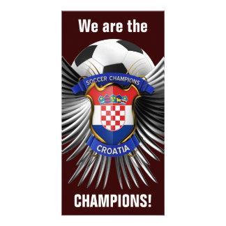 Campeones del fútbol de Croacia Tarjetas Fotograficas