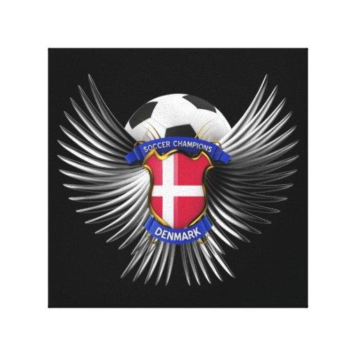 Campeones del fútbol de Dinamarca Impresiones De Lienzo