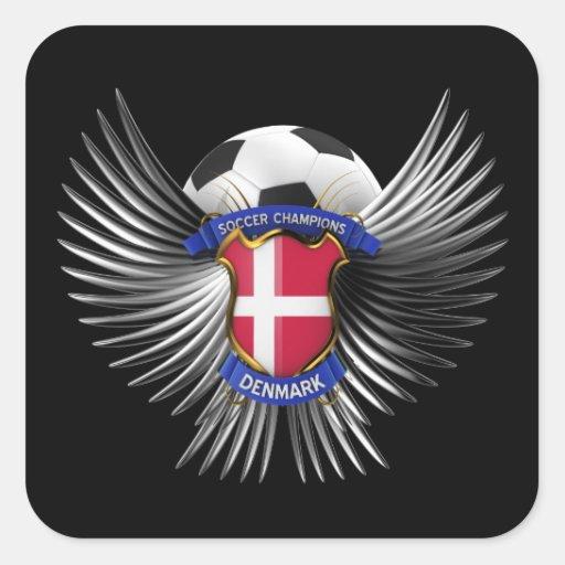 Campeones del fútbol de Dinamarca Colcomania Cuadrada