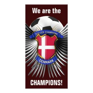 Campeones del fútbol de Dinamarca Tarjetas Personales Con Fotos