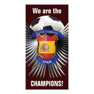 Campeones del fútbol de España Tarjeta Personal Con Foto
