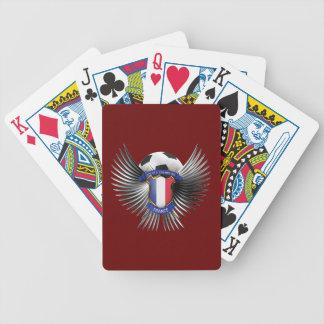 Campeones del fútbol de Francia Baraja Cartas De Poker
